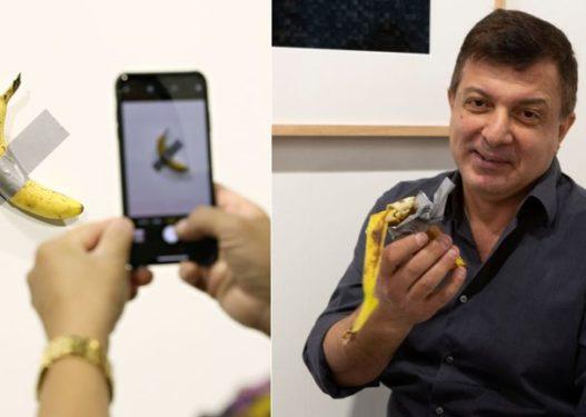 """Ishte vepër arti, artisti """"përlan"""" bananen që kushtonte 120 mijë dollarë në mes të panairit"""