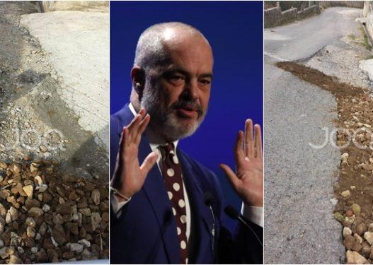2 kilometra larg Surrelit të Ramës/ Fshati në kushte skandaloze, banori: Nuk kemi rrugë, i lanë përgjysëm