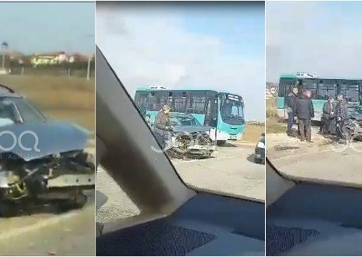 Aksident i rëndë në Rinas, dëshmitari: Një i plagosur u dërgua me urgjencë në spital