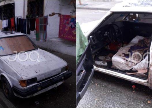 Kushte të mjerueshme/ Gëzimi nga Elbasani jeton në makinë, thirrja e qytetares: Ju lutem ndihmojeni, nuk ka përkrahje