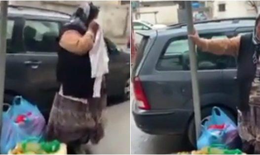 Policia e Ermal Kapllanit lë pa bukë të moshuarën që shiste rroba në trotuar, ajo shpërthen në lot