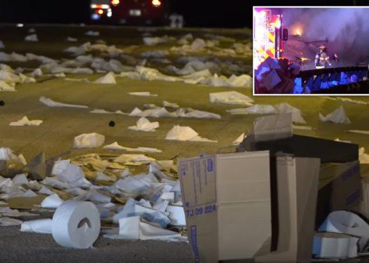 """Autostrada """"pushtohet"""" nga letrat higjienike/ Shoferin e zë gjumi në timon dhe humb kontrollin e kamionit"""