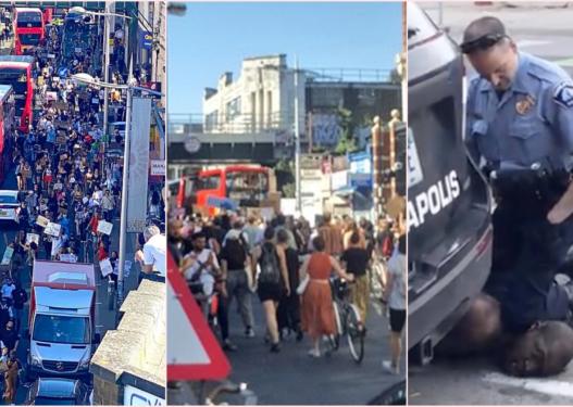 """""""Shfuqizoni policinë""""/ Vrasja brutale e George Floyd, protesta masive edhe në Mbretërinë e Bashkuar"""