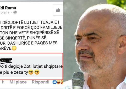 Rama: Zoti i dëgjoftë lutjet tuaja/ Shqiptari 'ia plas fytyrës': Po i dëgjoi të piu e zeza ty!