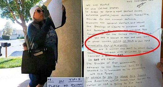 Arrestohet një 52-vjeçare, hodhi letra raciste në dyert e disa banorëve: Kthehuni urgjent nga keni ardhur!