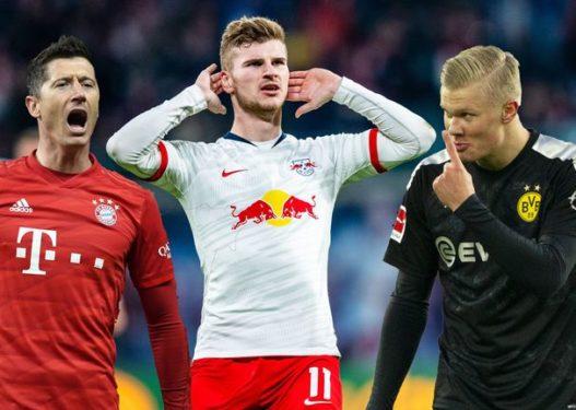 """Lewandoski-Werner-Haland, garë e fortë për """"Këpucën e Artë"""" në Bundesligë"""