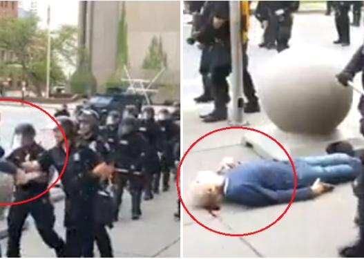 Protestat për George Floyd/ I moshuari shtyhet nga polici, përfundon pa ndjenja i gjakosur në trotuar