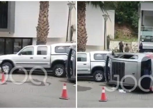 Shoferja e re kthen përmbys Benzin me dy fëmijët e saj brenda