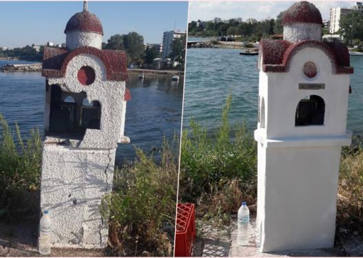Restauroi vendin e shenjtë, shqiptari fiton admirimin e grekëve me gjestin e tij human