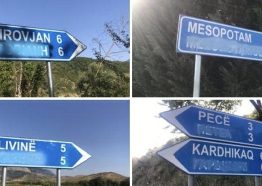 Fshihen emrat në gjuhën greke nga tabelat në Finiq, Dule: Po nxisinin urrejtje ndaj greqishtes, gjuhës sonë amëtare