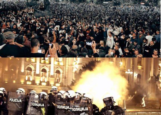 Shpërthen Beogradi nga protestat, frikësohet Rama