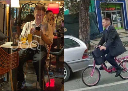 """Deputeti që shkon me biçikletë """"pink"""" në Parlament, frekuenton barin ku pihet SHISHA"""