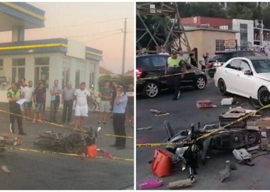 Përplasen dy makina dhe një motor, lëndohen tre persona