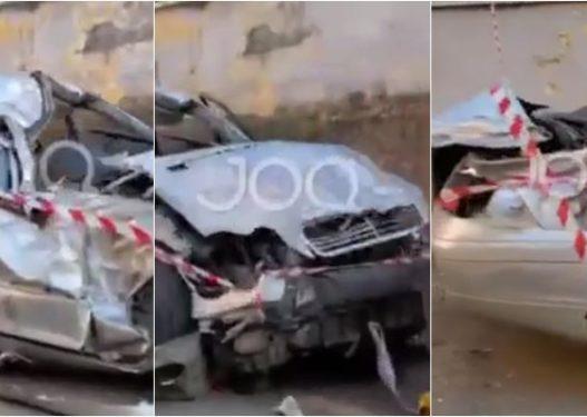 Pamjet e tmerrshme/ Benzi C-Class me të cilin gjeti vdekjen tragjike i riu, i bërë copë e çikë