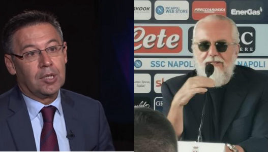 Presidenti i Barcelonës sulmon De Laurentiis: Mesazhet e tij janë të dëmshme!