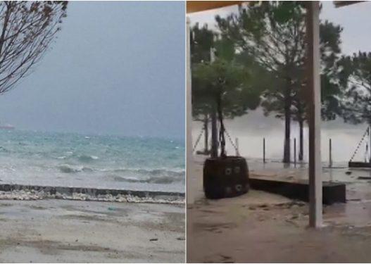 Shmanget një tjetër tragjedi/ Rojet bregdetare shpëtojnë tre të rinj me gomone në Vlorë, i zuri stuhia