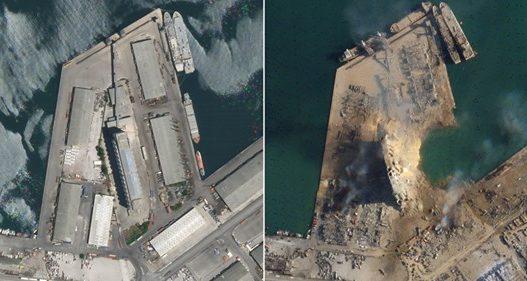 Pamjet satelitore nga Beiruti/ Hapet një krater i madh në vendin e shpërthimit