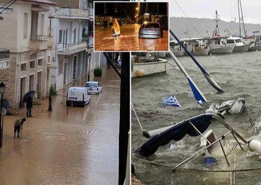 """""""Oobobo"""" Cikloni apokaliptik në Greqi/ Pamjet surreale nga shiu i rrëmbyeshëm dhe stuhirat e çmendura"""