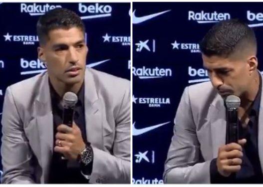 Suarez nuk e përballon dot largimin nga Barcelona, qan edhe gjatë intervistës