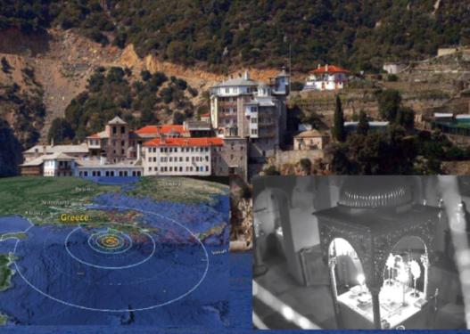 """Pamje rrëqethëse/ Tërmeti """"shkund"""" abazhurin brenda kishës në Greqi"""