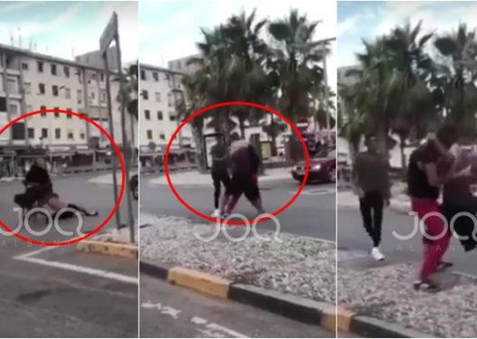 """""""Do të q* robt un ty…""""/ Plas sherri mes dy të rinjve në Durrës, grushta dhe shqelma ndaj njëri-tjetrit"""