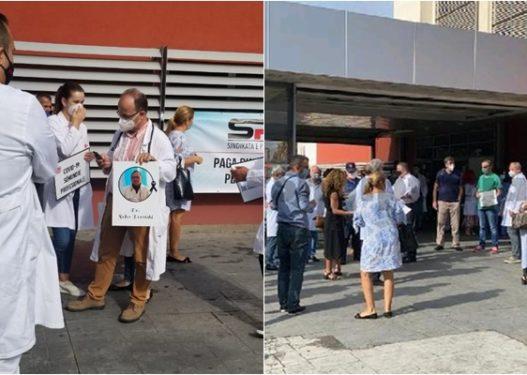Mjekët të vendosur për kërkesat e tyre, bluzat e bardha mblidhen para QSUT