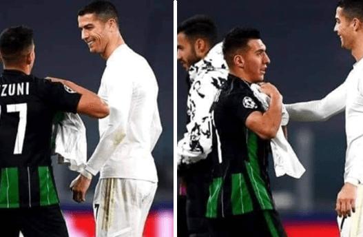 Mbrëmje që nuk do e harrojë kurrë, Myrto Uzuni shkëmben fanellën me Ronaldon pas ndeshjes