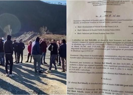 """Organizoi protestën tek """"Rruga e Kombit"""", gjobitet me 5 milionë lekë kryeplaku i fshatit Rreja e Zezë"""