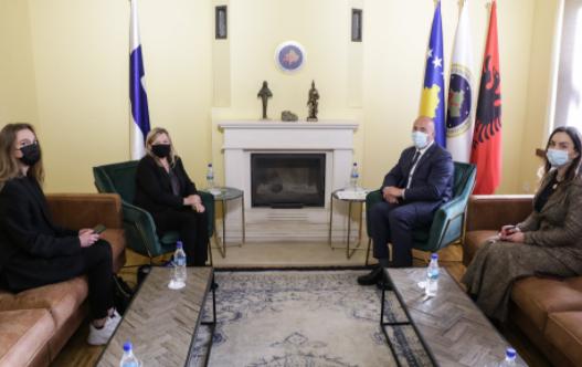Haradinaj priti në takim ambasadoren e Finlandës Pia Stjernvall