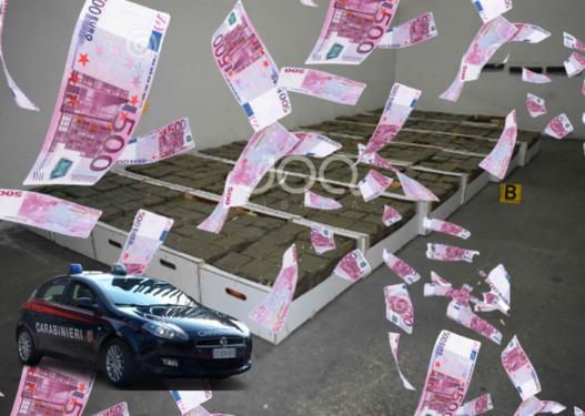 Pranga çiftit shqiptar në Itali/ Policia i sekuestron marijuanë me vlerë 2 milionë euro, detaji që 'tradhtoi' gruan