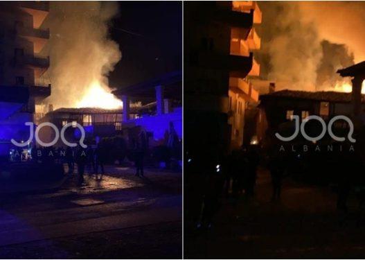 Rrëqethëse në Berat! Shkrumbohen nga flakët dy shtëpi, dy persona të bllokuar brenda tyre