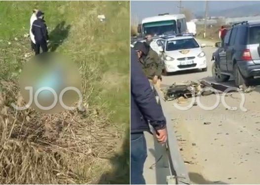 Pamje ekskluzive/ Aksidenti tragjik në Lushnjë-Divjakë ku humbën jetën dy persona