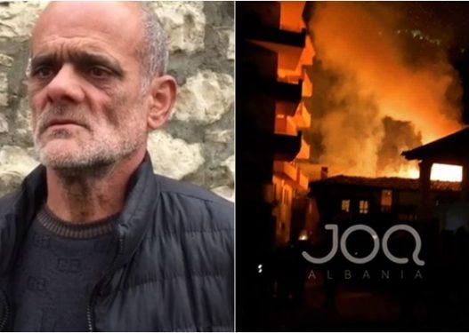 Djegia e tre banesave në Berat/ Humbin jetën babë e bir, familjarët: Kur erdhëm gjithçka ishte në flakë