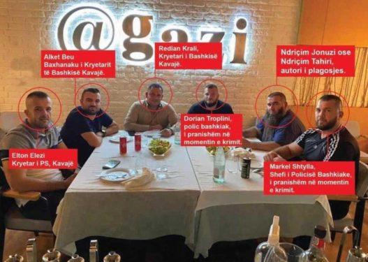 Rama tha se s'është politike/ Del fotoja, autorët e plagosjes së zyrtarit të PD hanë darkë me kreun e bashkisë Kavajë