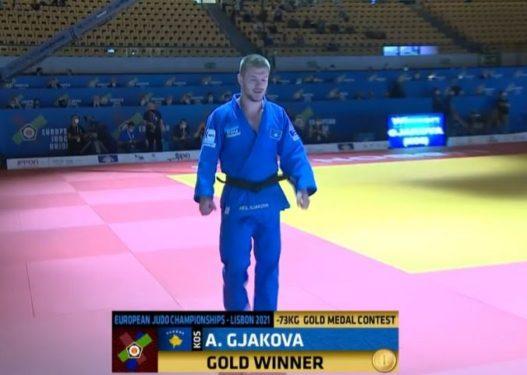 Super Akil Gjakova, fiton medaljen e artë në Evropianin e xhudos
