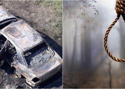 Horror në Kavajë! Gruaja gjendet e djegur në makinë, burri i vetëvarur në pemë