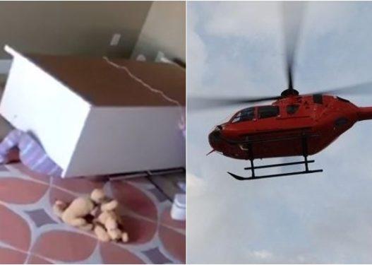 Fëmijës 3 vjeç i bie dollapi sipër, niset me helikopter drejt kryeqytetit