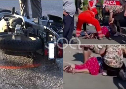 Elbasan/ U përplas nga motori, 63-vjeçarja ndërron jetë në spital