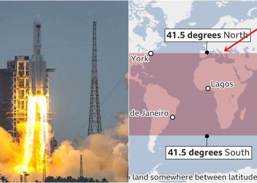BBC publikon hartën ku mund të bjerë raketa kineze, brenda saj edhe Shqipëria