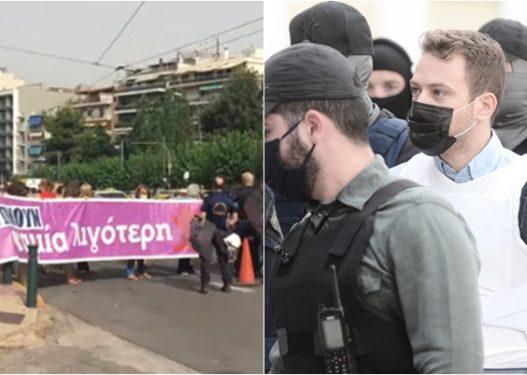 Sërish me antiplumb/ Mbërrin në gjykatë piloti grek që vrau gruan, e presin qytetarët: Vriteni, të kalbet në burg!