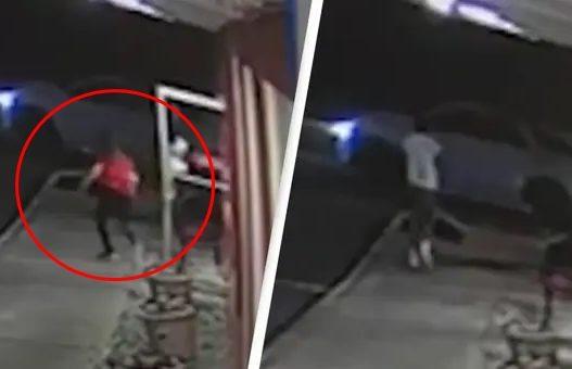 Kamarierja ndjek me vrap pesë personat që s'paguan faturën, ata e rrëmbejnë dhe e rrahin brenda makinës