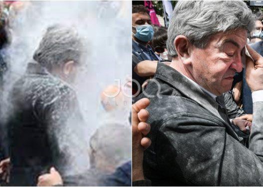 Pas Macron, e pëson një tjetër politikan francez, qytetari i hedh miell në fytyrë
