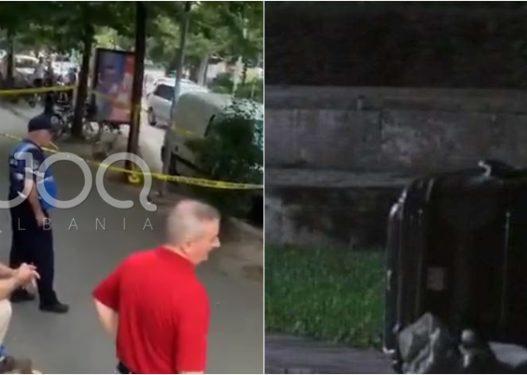 Valixhe e braktisur/ Alarm për bombë në Tiranë