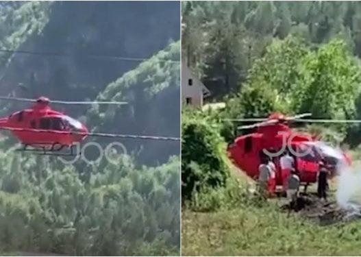 Pamje/ Një fëmijë në gjendje të rëndë shëndetësore në Theth, niset me helikopter drejt Tiranës