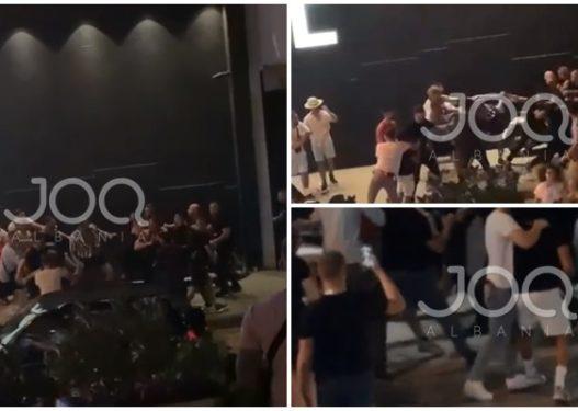 """Plas grushti tek """"Orange"""", qytetari: U zunë truprojat me të huajt pas koncertit të Noizy-t"""