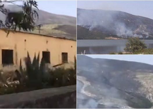 Zjarri hyn në bazën ushtarake të Pashalimanit, prefekti i Vlorës ndalon gazetarët që të filmojnë