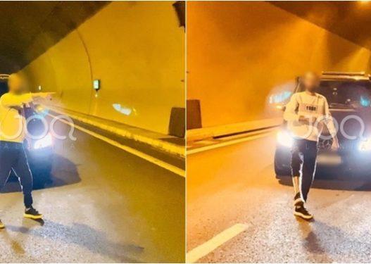 Skandal/ I riu nga Hasi bllokon tunelin e Kalimashit, qytetari: Burim aksidenti! Ku është Policia e Shtetit?!