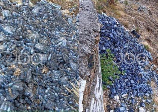 """Puka """"pushtohet"""" nga mbetjet plastike! Qytetari: Janë të firmës """"Lajthiza"""", i kanë hedhur në tokë"""