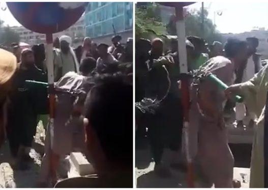 Pamje të rënda! Talebanët lidhin në një shtyllë dhe rrahin me kamxhik hajdutin e telefonave