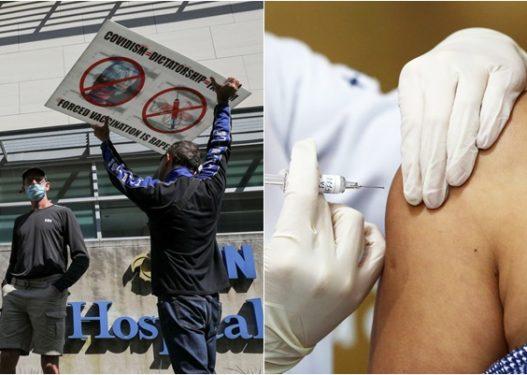 Burri godet me grusht në fytyrë infermieren: Pse më vaksinove gruan, pa autorizimin tim?